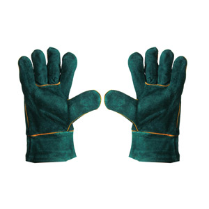 protective gloves, welding gloves, green welding gloves