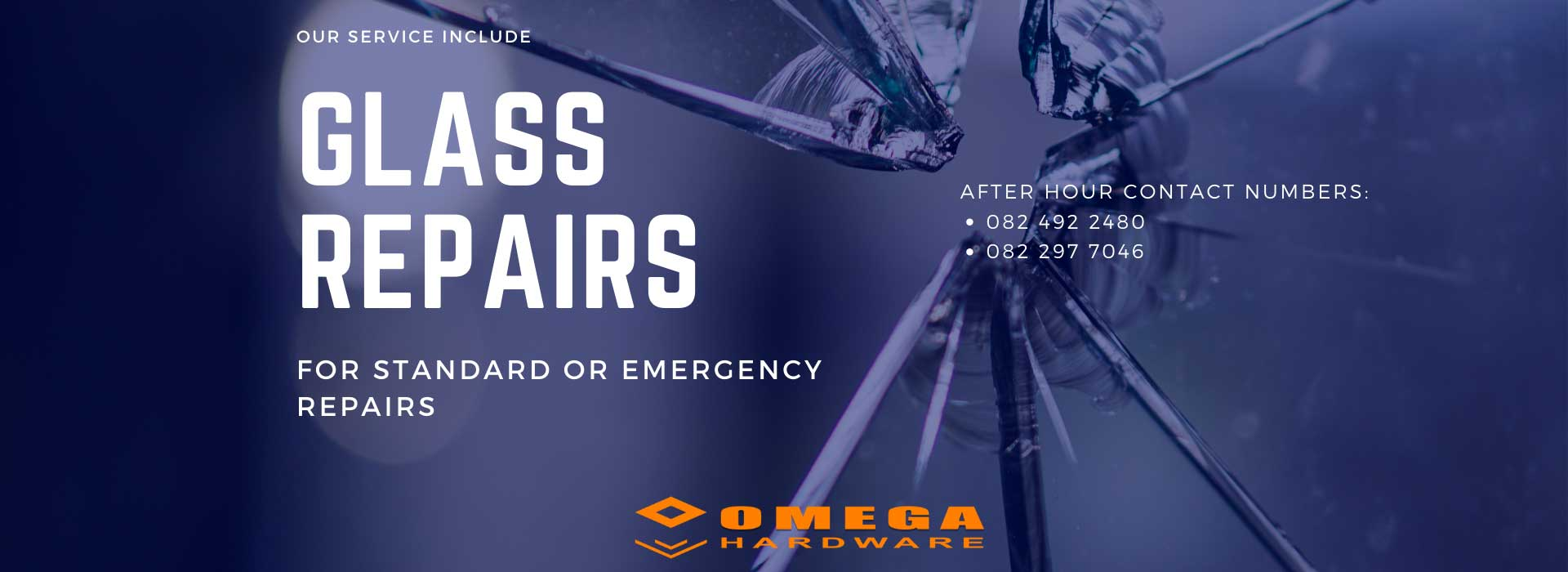 emergency glass repairs Gansbaai, glass installation, installers of mirrors, bevelled mirror supplier, safety glass repairs, safety glass installer, Omega Gansbaai, Omega Hardware