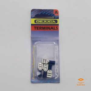 dejuca terminal disconnect 9mm, terminal female 9mm, blue disconnect terminal, electrical accessories, Omega Gansbaai, Omega Hardware, Omega Glas