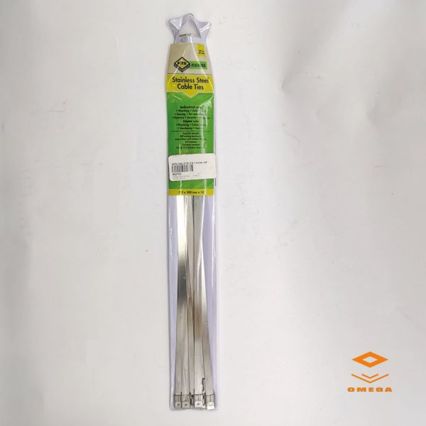 stainless steel cable ties, 7.9x300 ss cable tie,Omega Gansbaai, Omega Hardware, Omega Glas